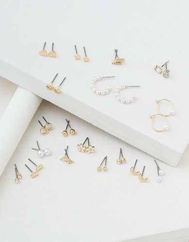 AEO Motif Stud Earrings 18-Pack