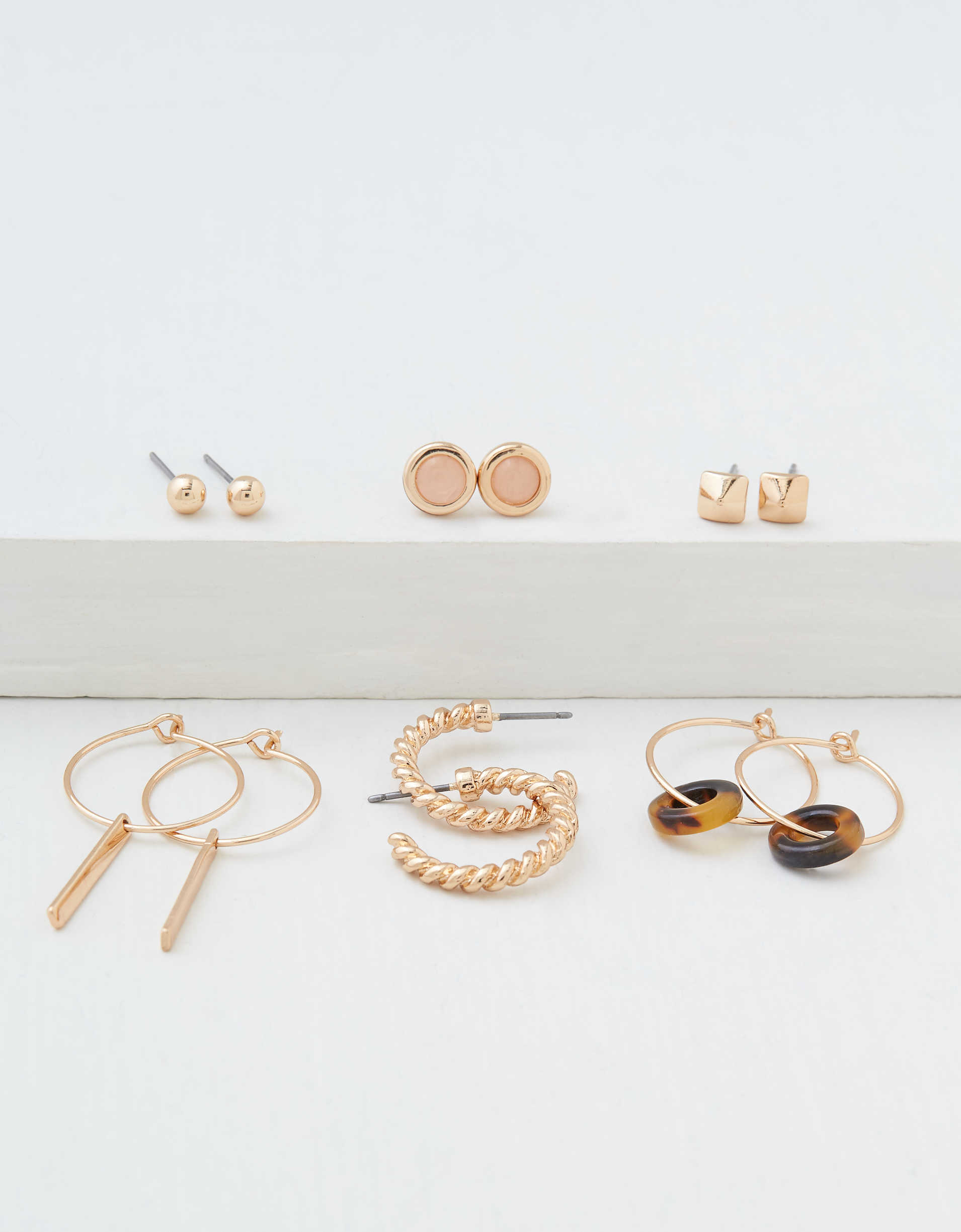 AEO Rose Gold Earrings 6-pack