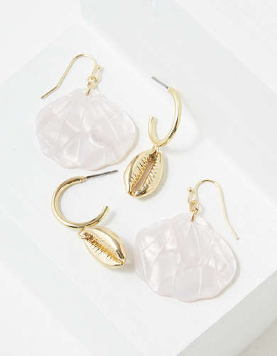AEO Resin Shell Earrings 2-Pack