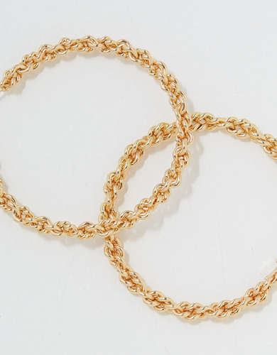 AEO Braided Chain Hoop Earring