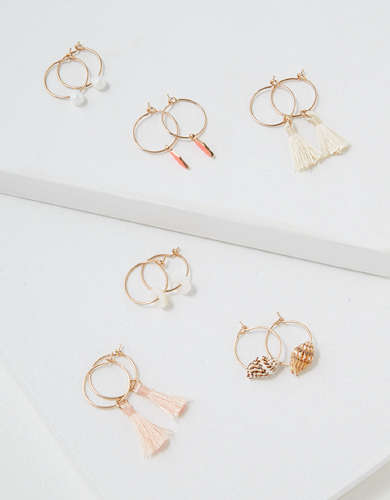 AEO Mini Charm Earrings 6-Pack