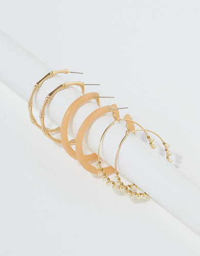 AEO Dainty Hoop Earrings 3-Pack