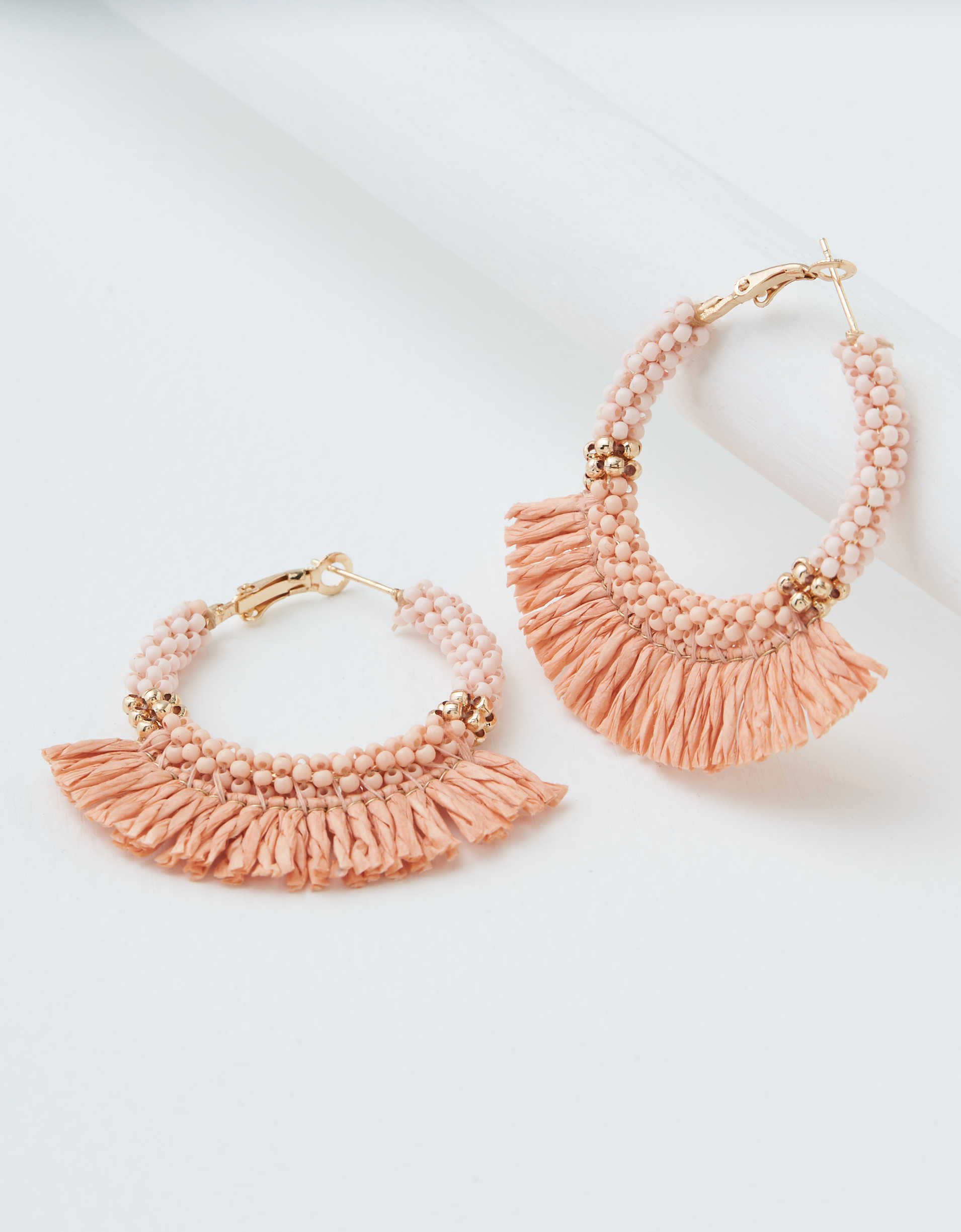AEO Fringe Beaded Hoop Earring
