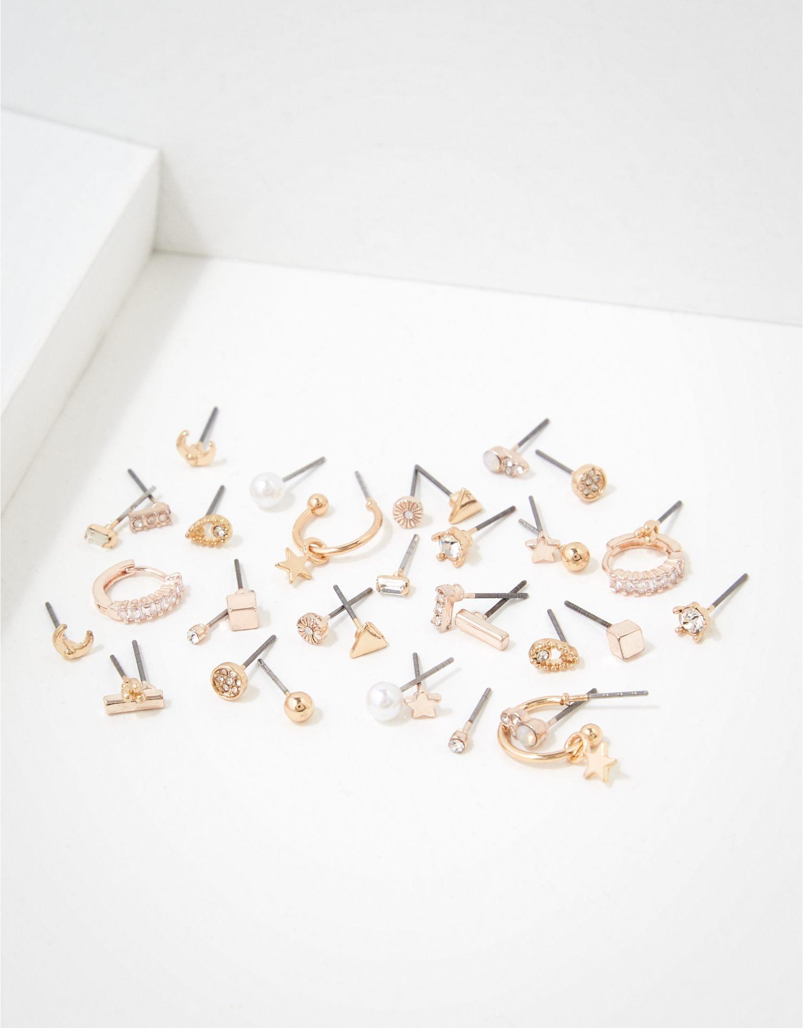AEO Rose Gold + Gold Stud Earrings 18-Pack