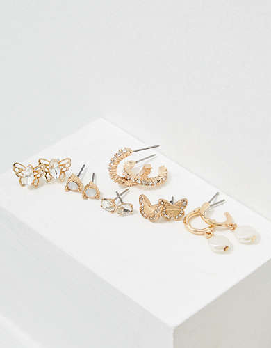 AEO Butterfly Earrings 6-Pack