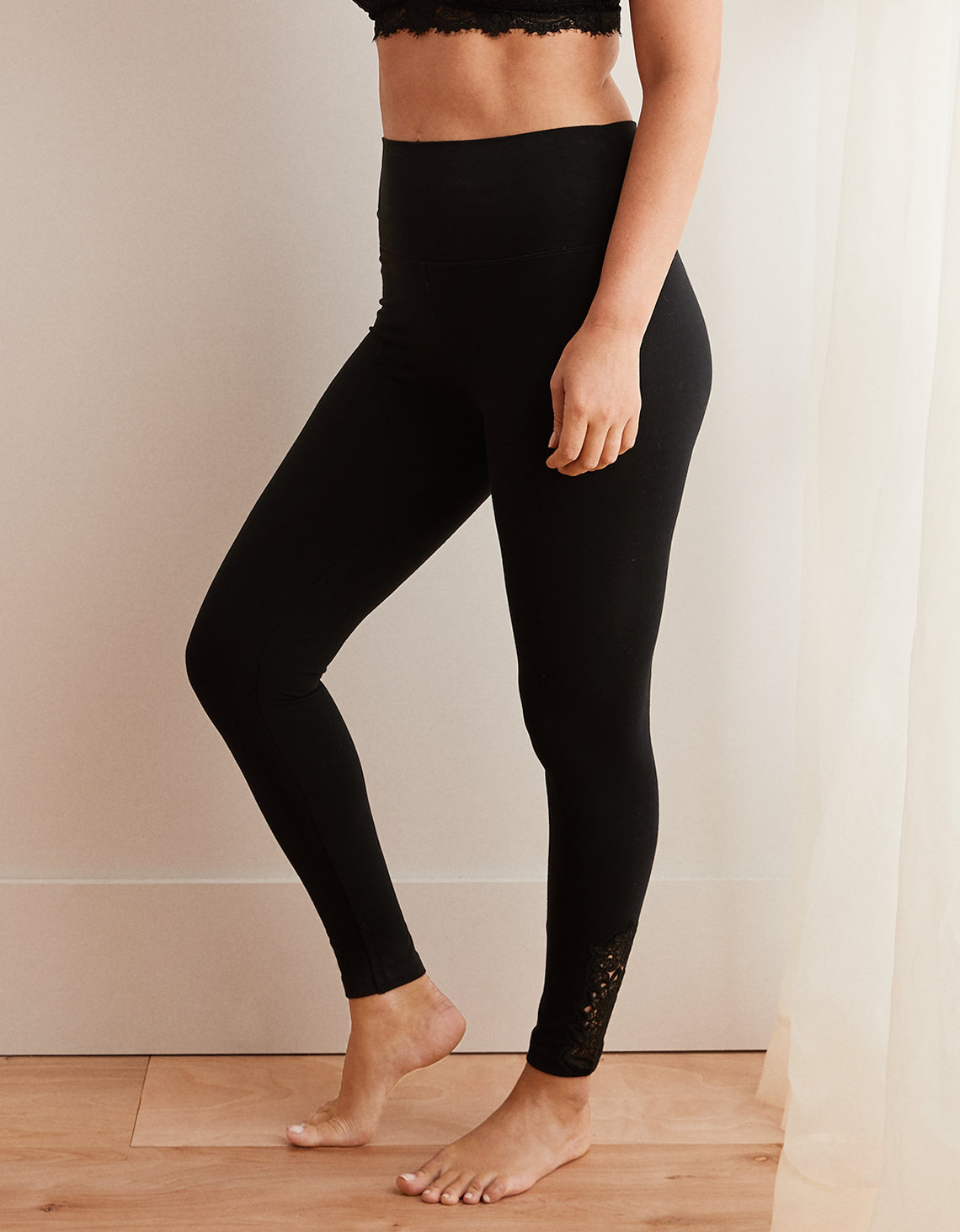 17a1730e7c4ad6 Aerie Chill High Waisted Legging, True Black | American Eagle Outfitters