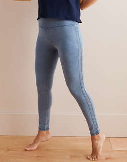 Aerie Chill High Waisted Track Legging by American Eagle Outfitters