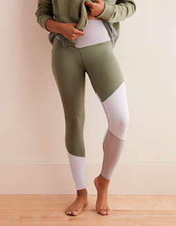 Aerie Play Real Me High Waisted 7/8 Legging, Olive Fun