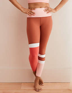 Aerie Move High Waisted Color Block 7/8 Legging