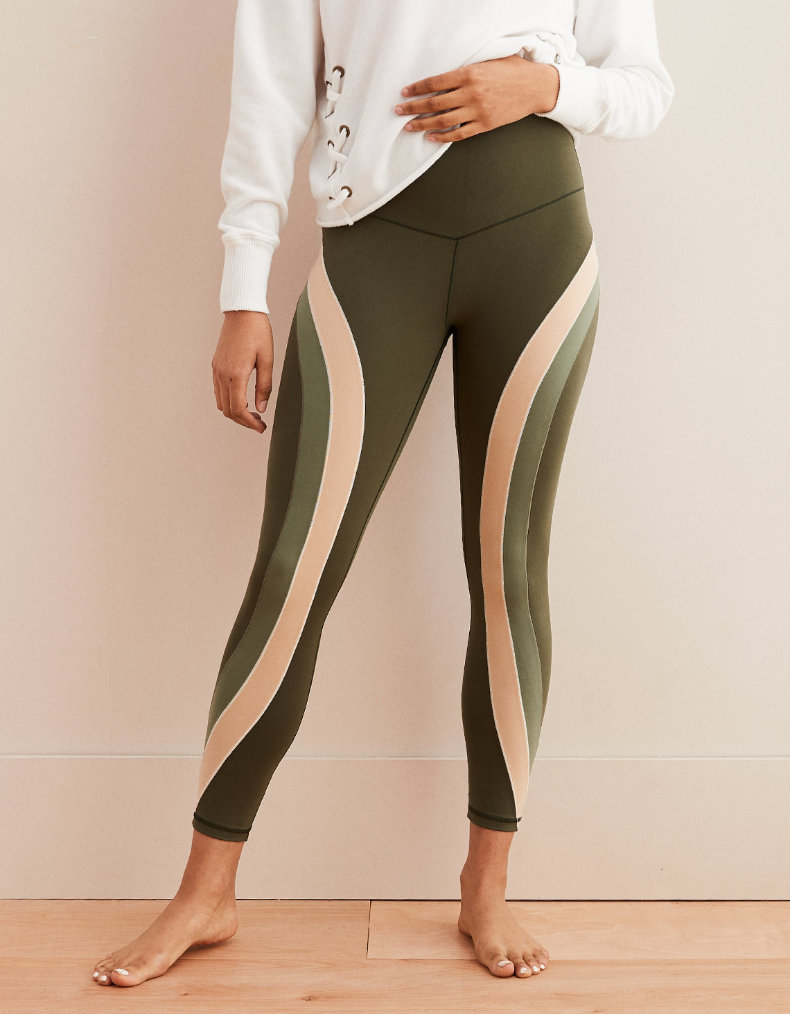 edeaf77c0500d7 Aerie Play Real Me Color Block High Waisted 7 8 Legging. Placeholder image.  Product Image