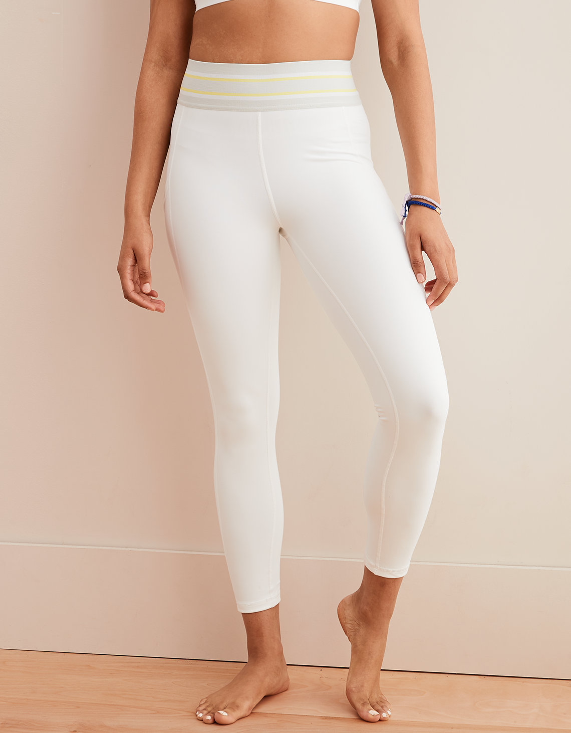 5dbb1503868a6 Aerie Move High Waisted Track 7/8 Legging, White   Aerie for ...