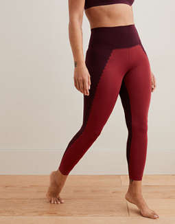 Aerie Play Real Me Scallop High Waisted 7/8 Legging
