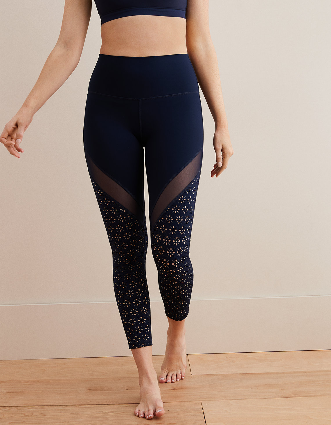 cc6d0c0aee128b Aerie Move High Waisted 7/8 Legging, Navy   American Eagle Outfitters
