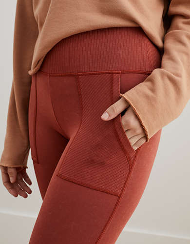 Aerie Chill Ribbed Pocket Legging