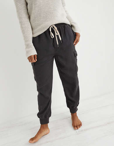 Aerie Twill Cargo Jogger
