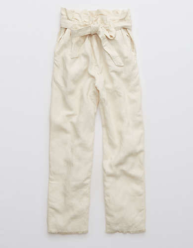 Aerie Twill Paperbag High Waisted Pant