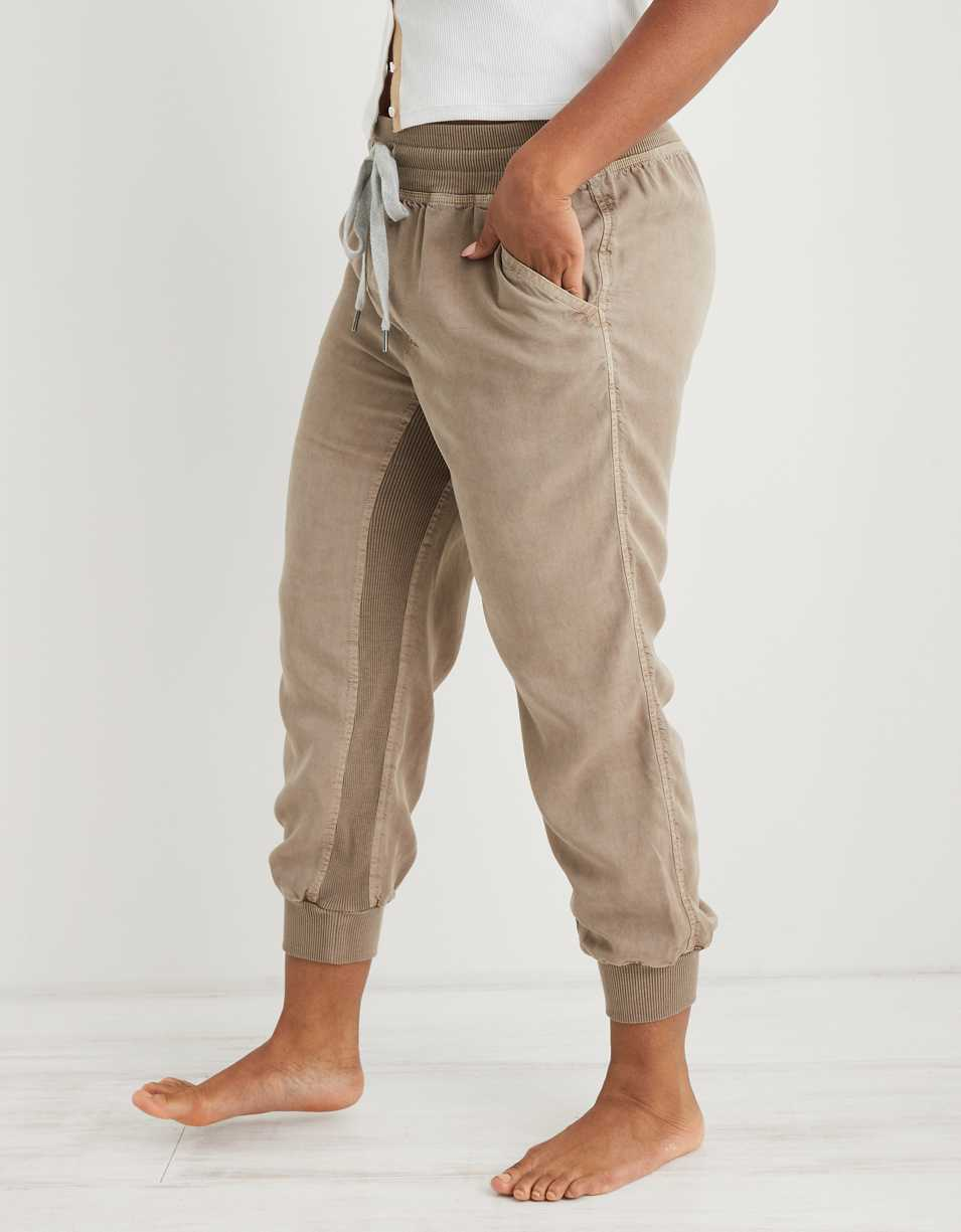 Aerie Ribbed Woven Jogger