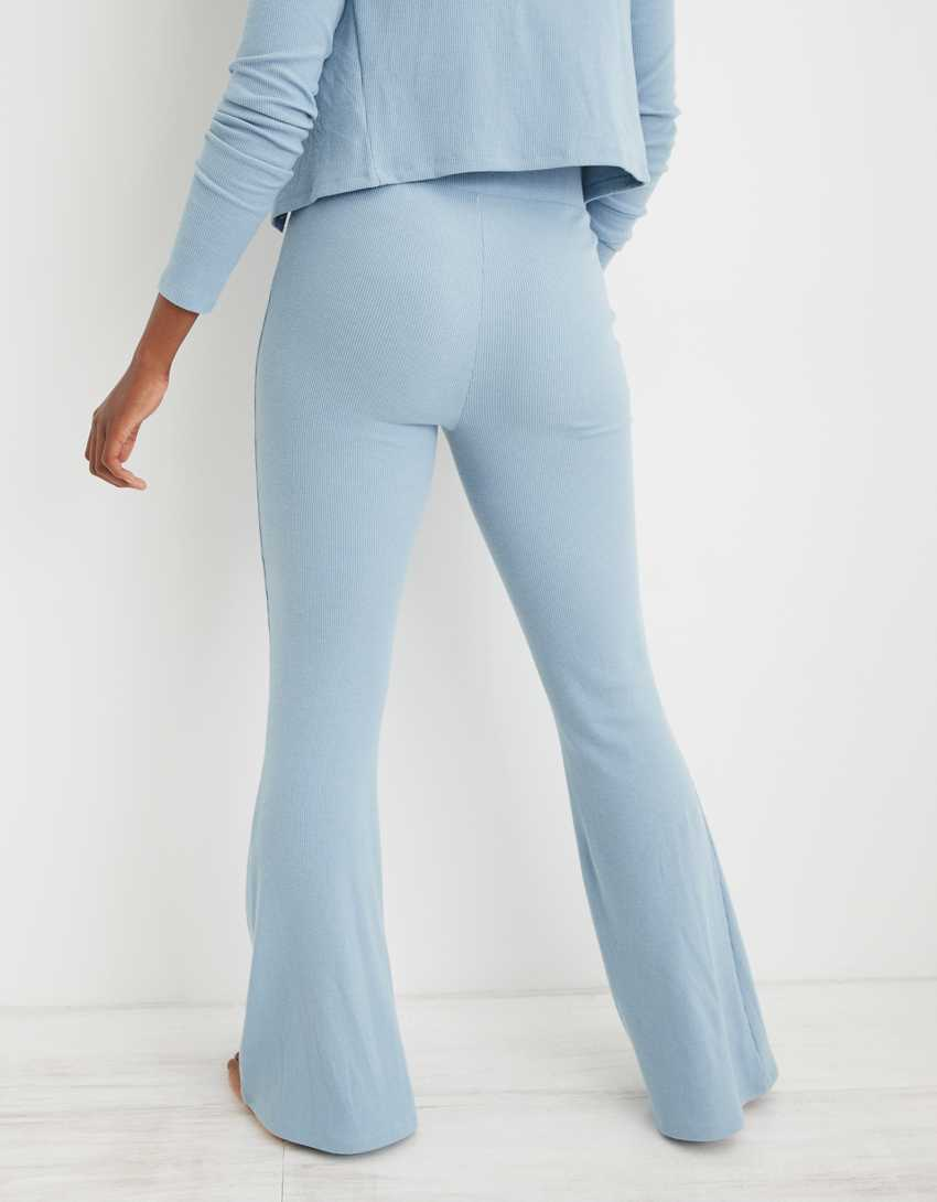Aerie Kick-It Flare Ribbed High Waisted Pant