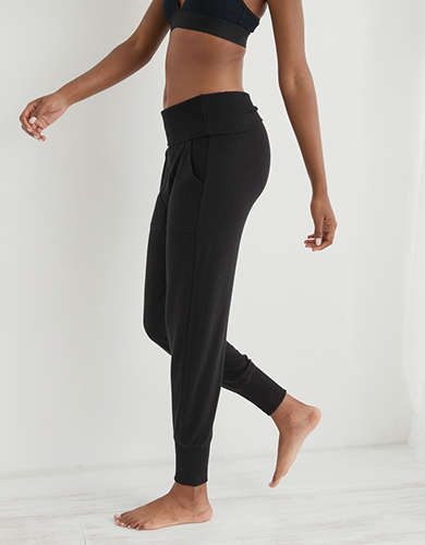 Aerie Softest® Sleep Plush Foldover Jogger