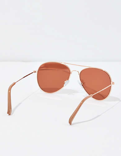 AEO Rose Gold Aviator Sunglasses