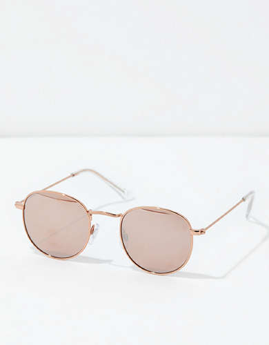 AEO Rose Gold Round Metal Sunglasses