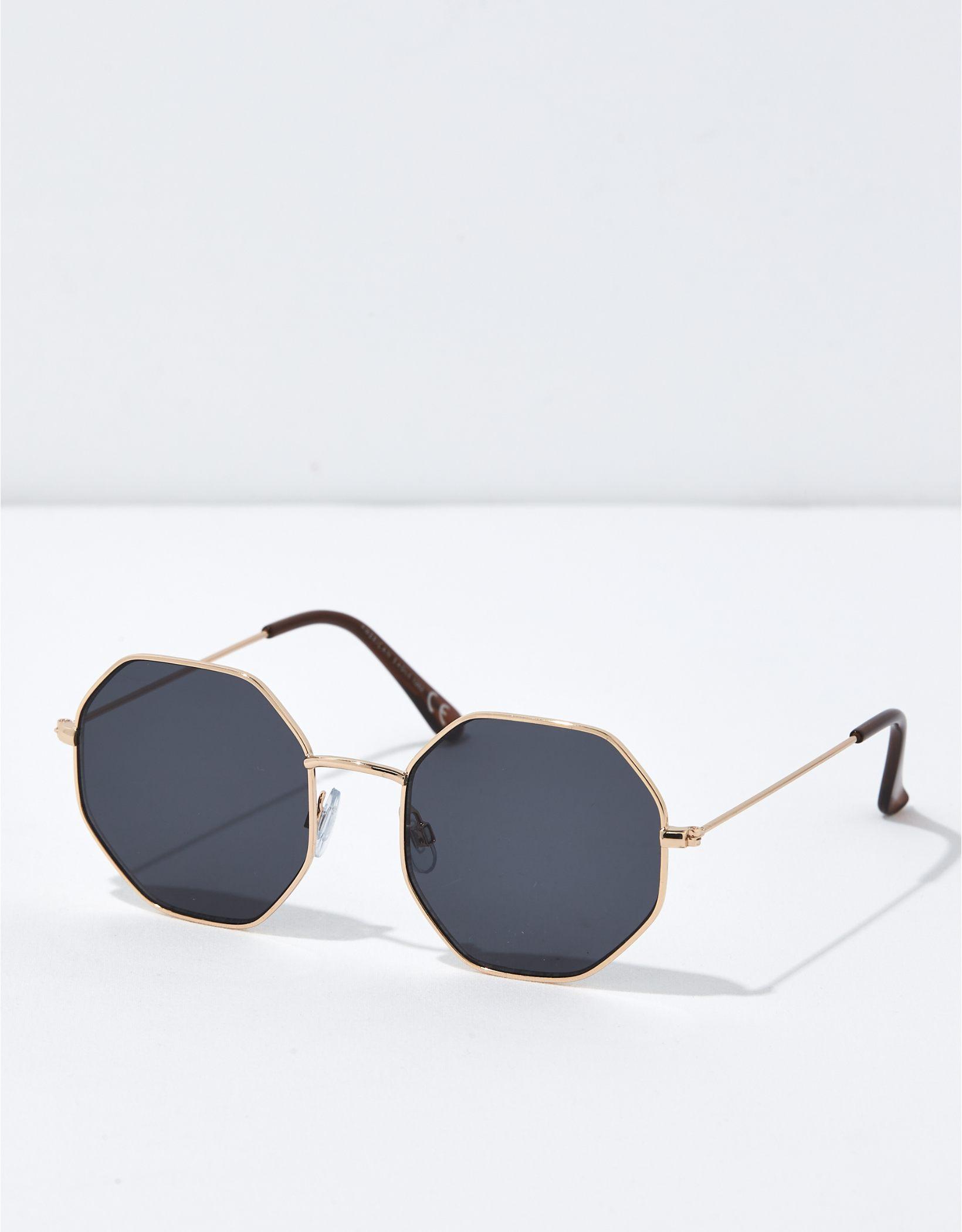 AEO Metal Hexagon Sunglasses