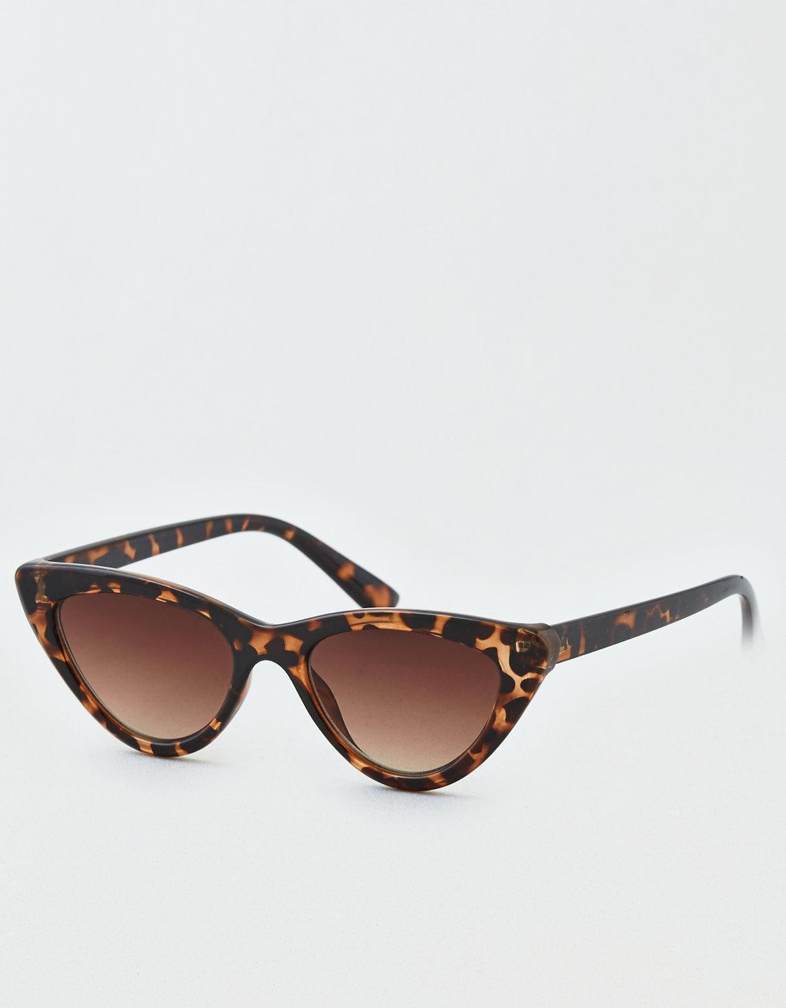 Black Small Cat Eye Skinny Sunglasses Pretty Little Thing q3rgOjg