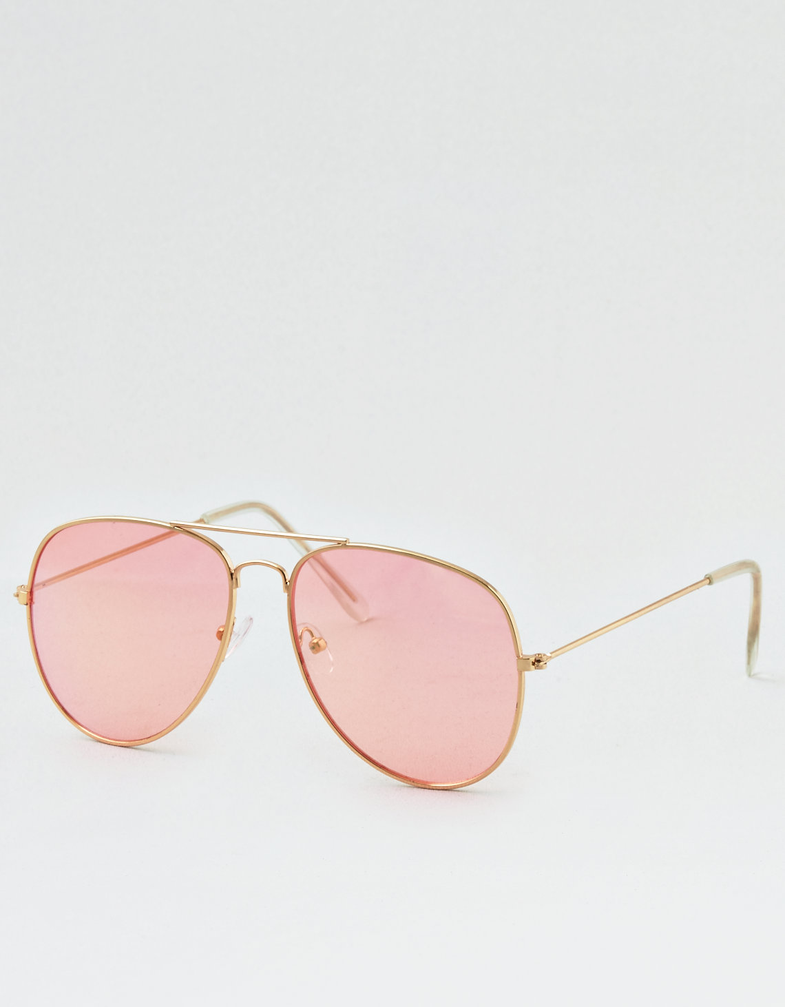 Pink Lens Gold Frame Aviator Sunglasses Pretty Little Thing RWRcBVmn