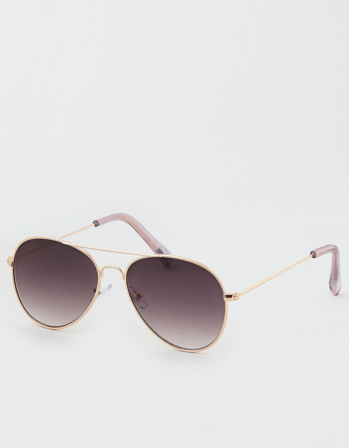 AE Smoke Flat Lens Aviator Sunglasses
