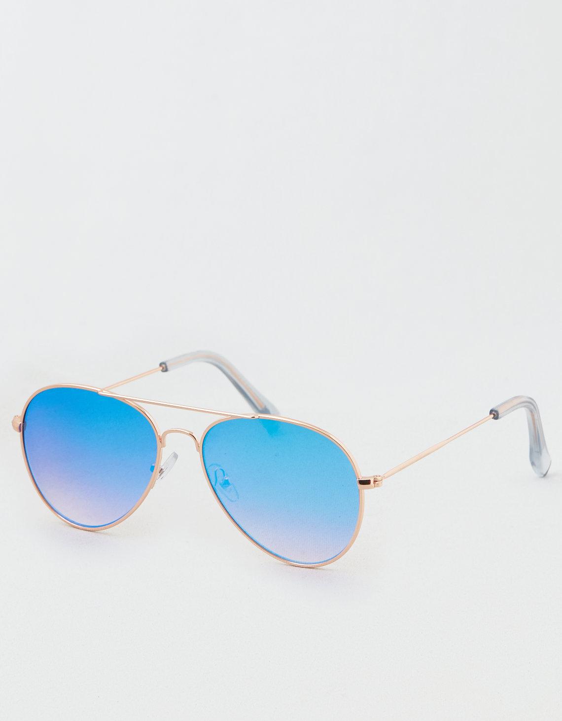 23a8a54a6f AE Aqua Flat Lens Aviator Sunglasses. Placeholder image. Product Image