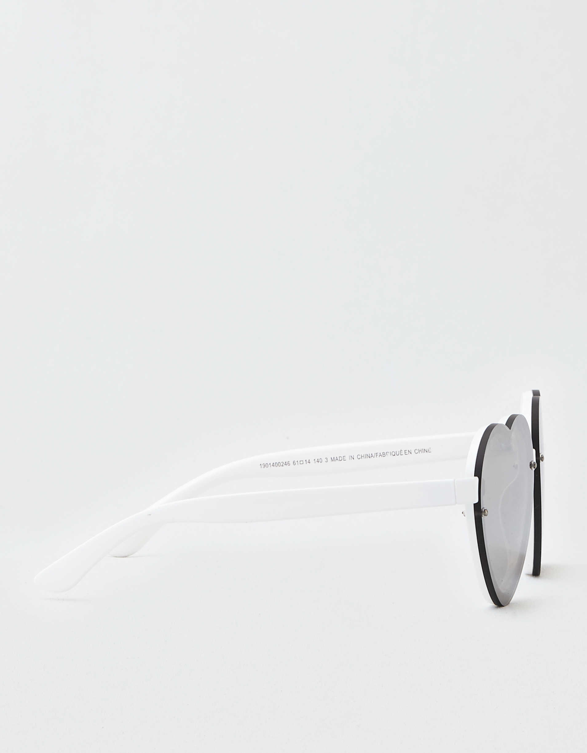 AEO Rimless Heart Plastic Sunglasses