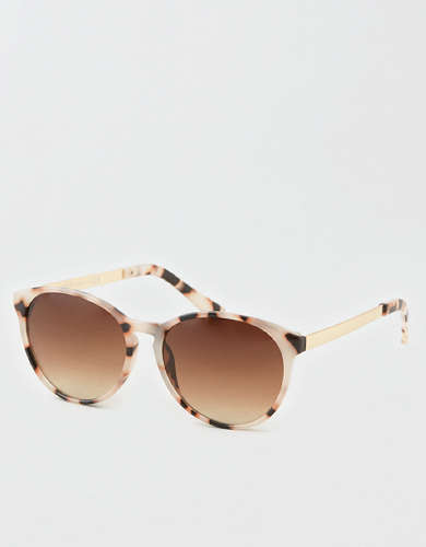 AEO Tortoise + Metal Sunglasses