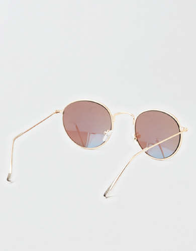 AEO Blue Lens Aviator Sunglasses