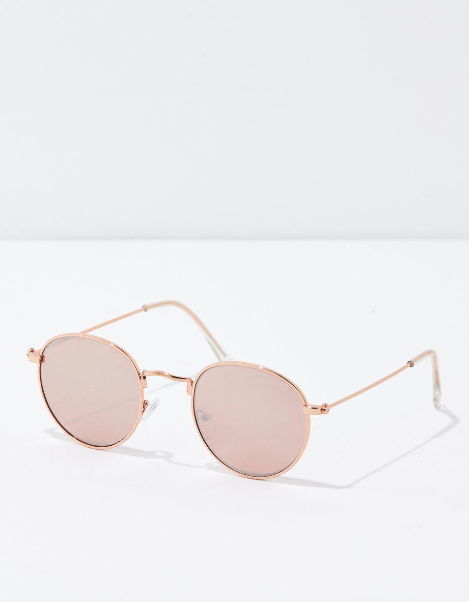 AEO Rosegold Round Metal Sunglasses
