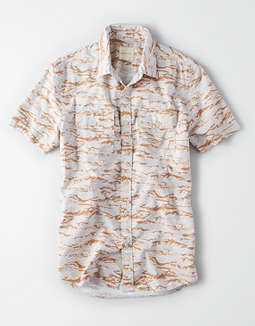 AE Short Sleeve Camo Button Up Shirt