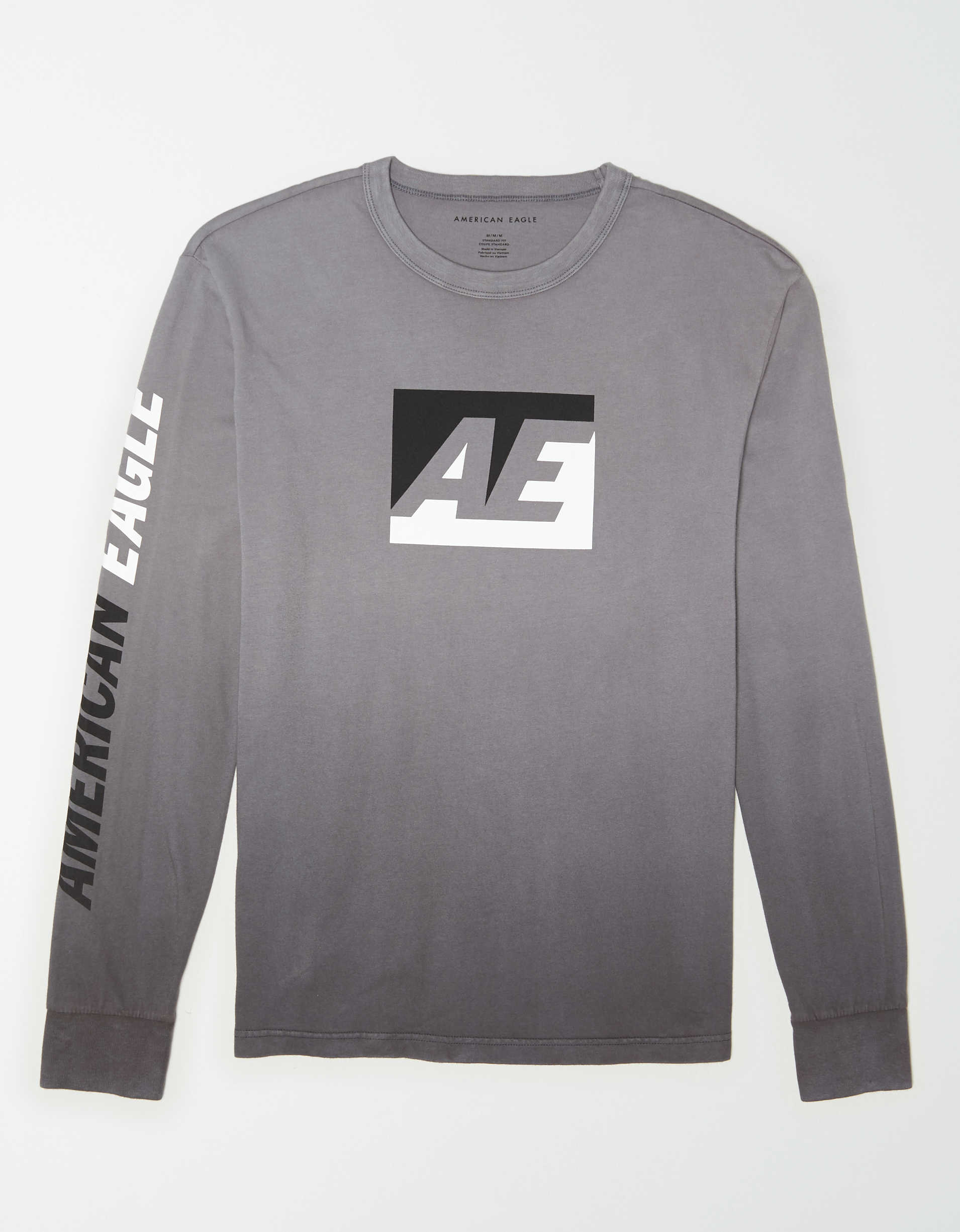 AE Long Sleeve Dip-Dye Graphic T-Shirt