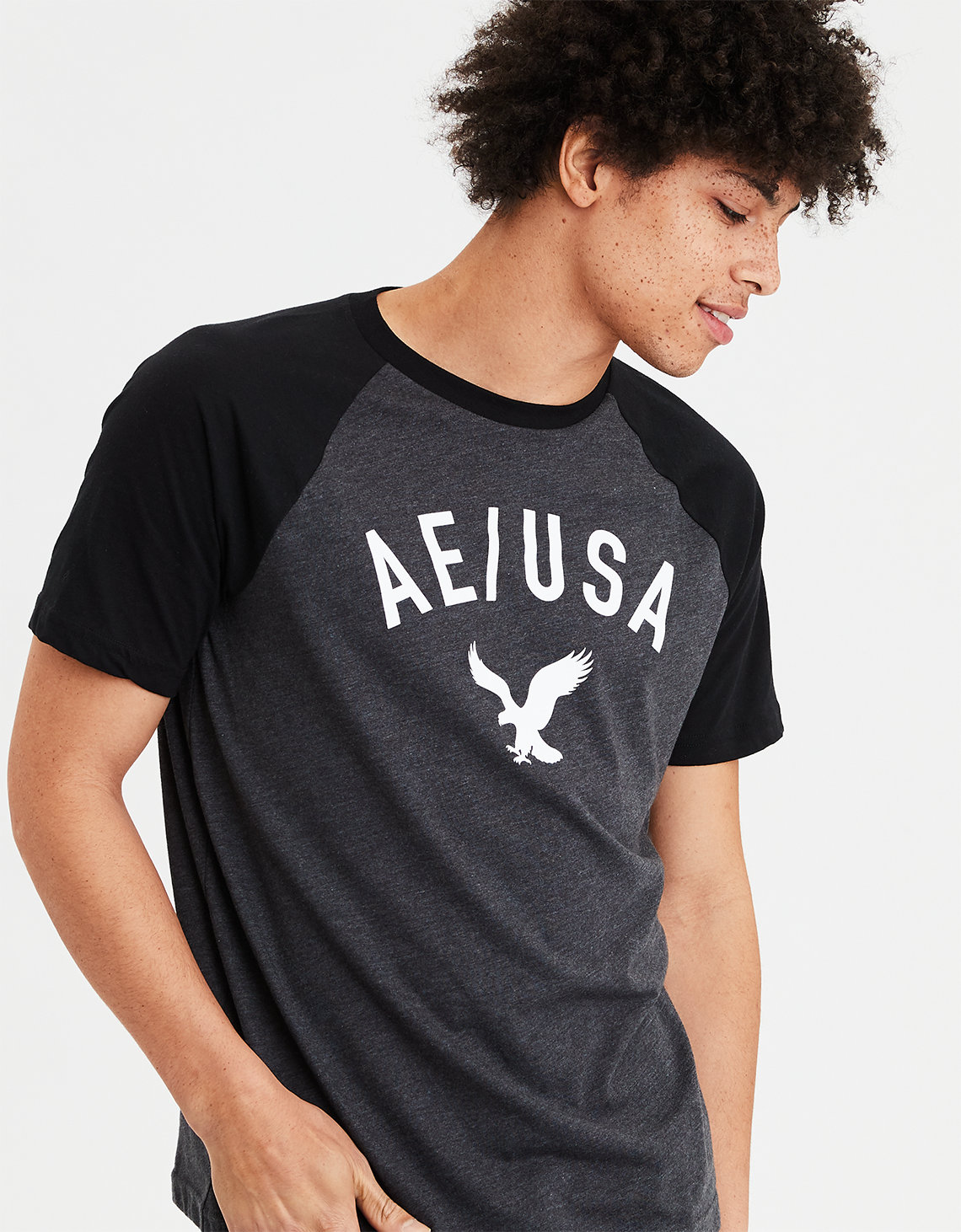 a5d0d202 AE Graphic T-Shirt, Obsidian Black   American Eagle Outfitters