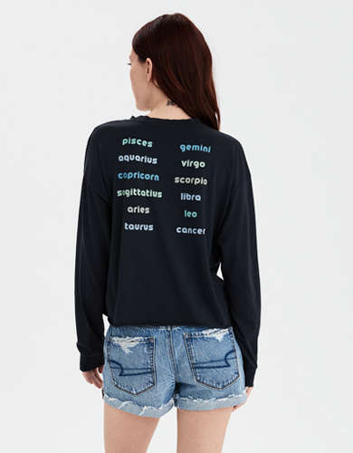 AE Long Sleeve Horoscope Graphic T-Shirt