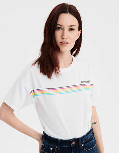 AE Striped Graphic T-Shirt