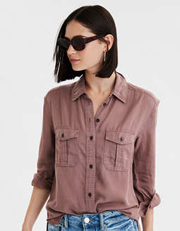 AE Military Button Up Shirt