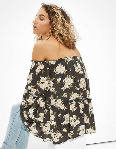 AE Bell Sleeve Off-The-Shoulder Top