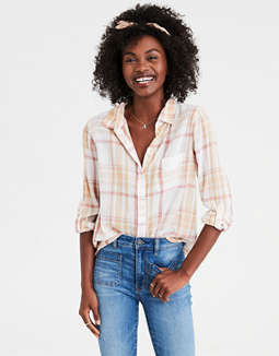 AE Plaid Button Down Shirt