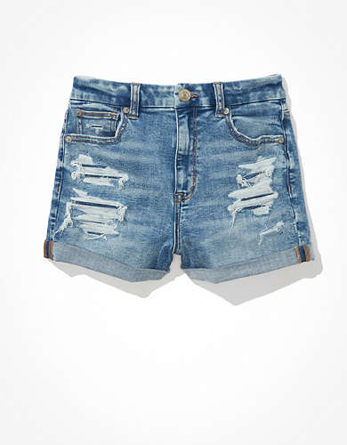 AE Ne(x)t Level Curvy High-Waisted Denim Short Short