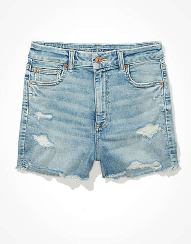 AE Ne(x)t Level Curvy Super High-Waisted Denim Short Short