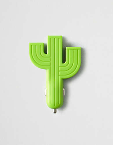 Kikkerland Cactus Car Multi Phone Charger -