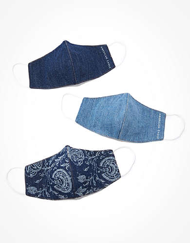 AE Reusable Denim Face Mask 3-Pack