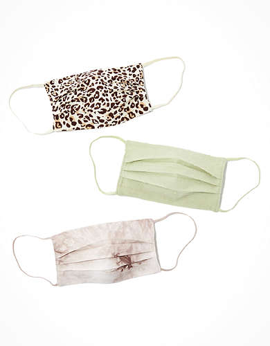 AEO Animal + Tie Dye Masks 3-Pack