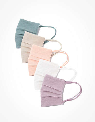 AEO Linen Masks 5-Pack