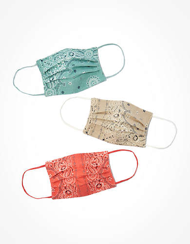AEO Bandana Pleated Masks 3-Pack