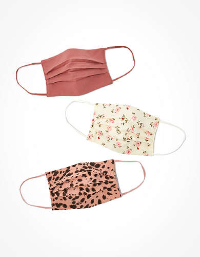 AEO Printed Pleated Masks 3-Pack